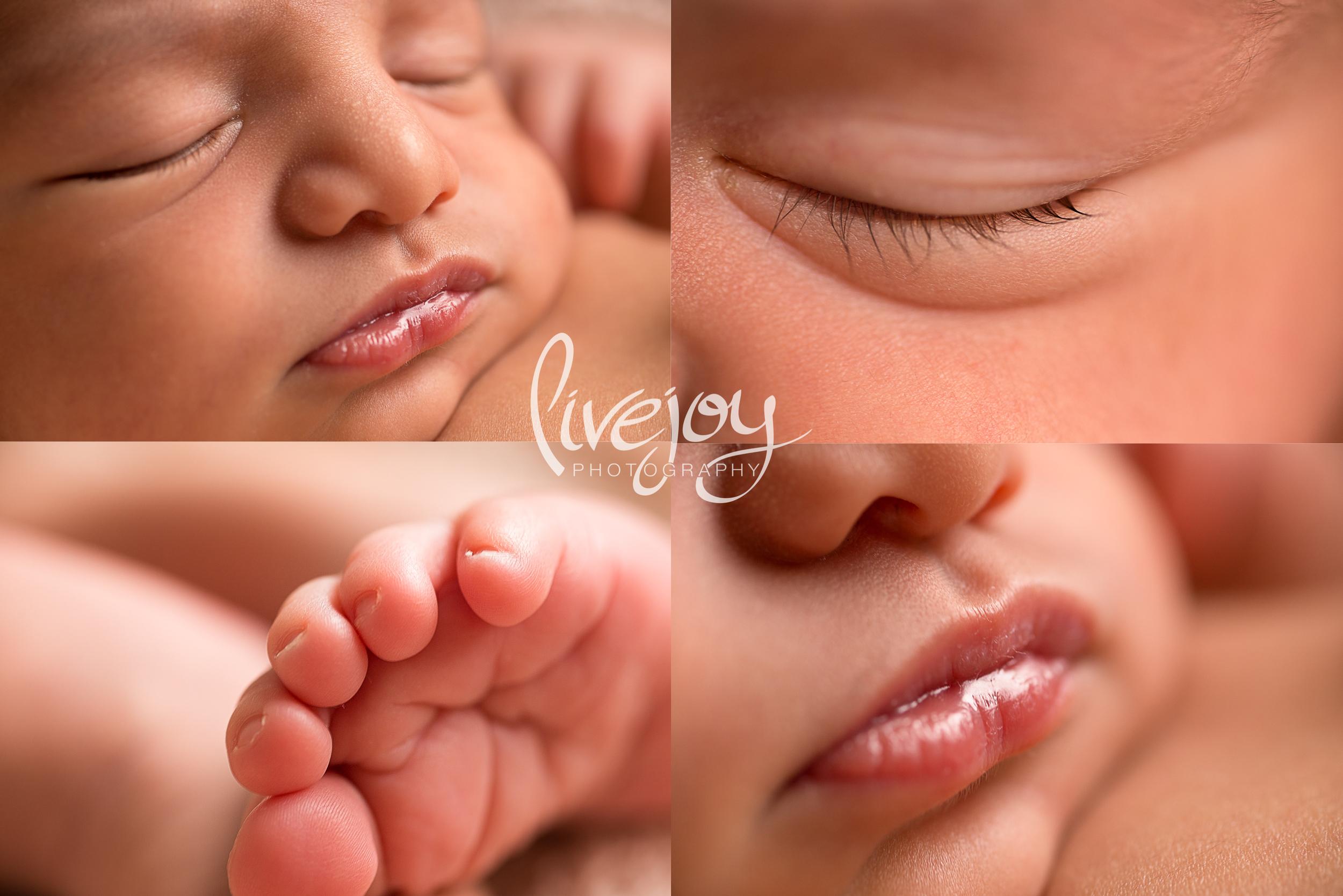 Newborn Photography Macro Details | Oregon | LiveJoy Photography