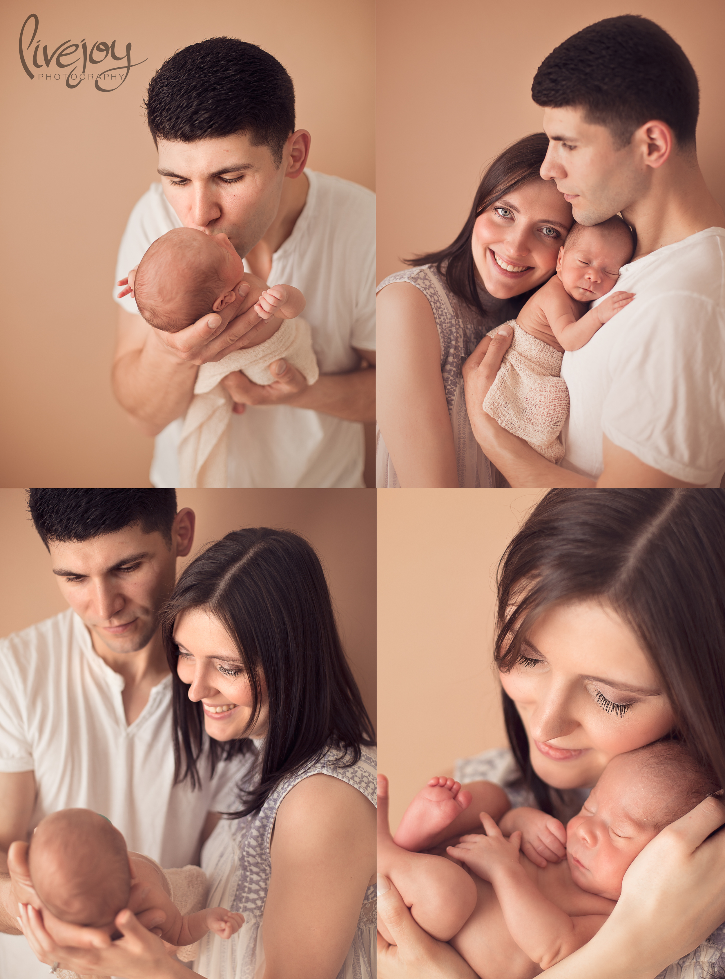 Newborn Photography with mom and dad | Oregon | LiveJoy Photography