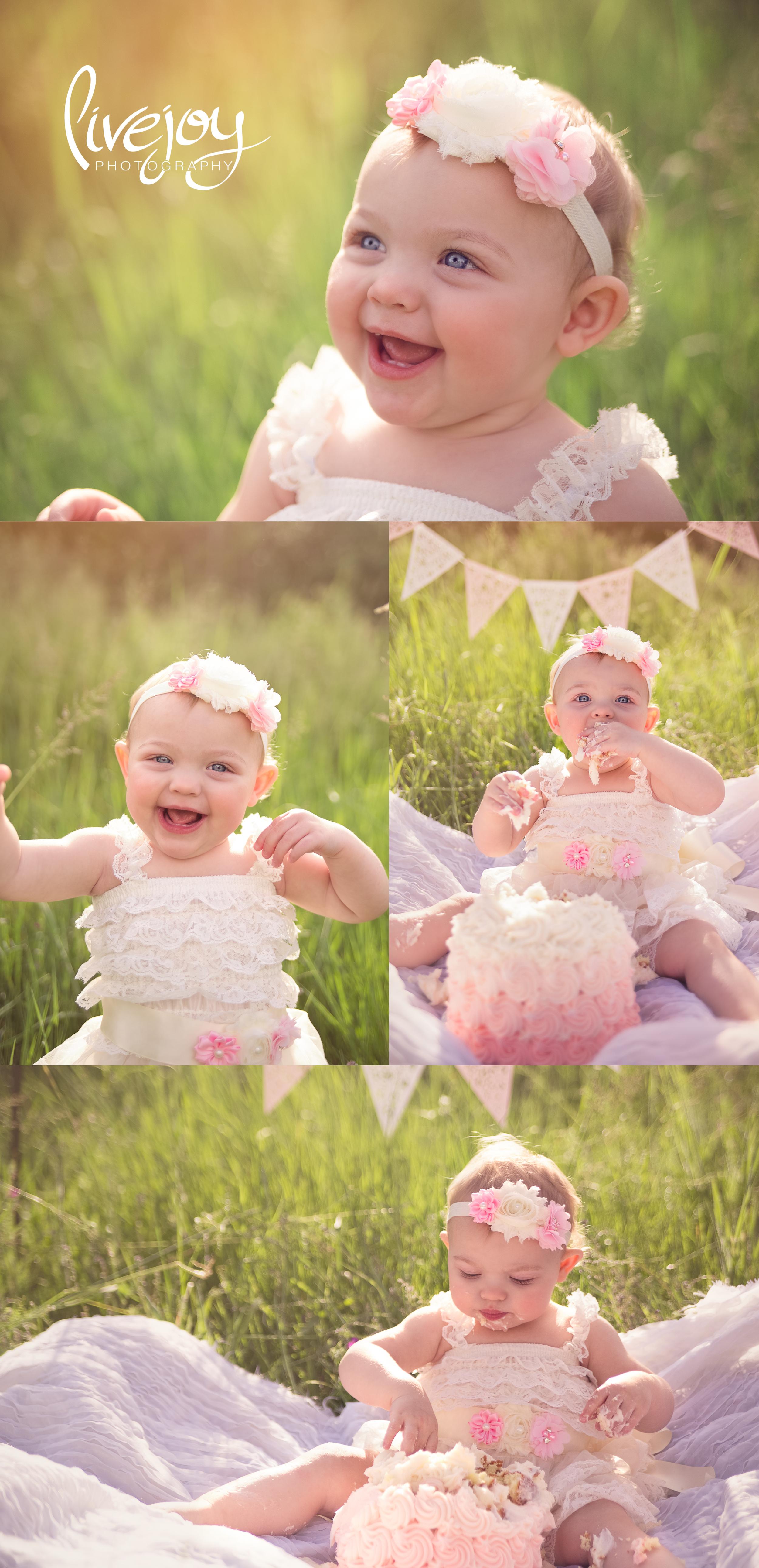 1 Year and Cake Smash | Oregon | LiveJoy Photography
