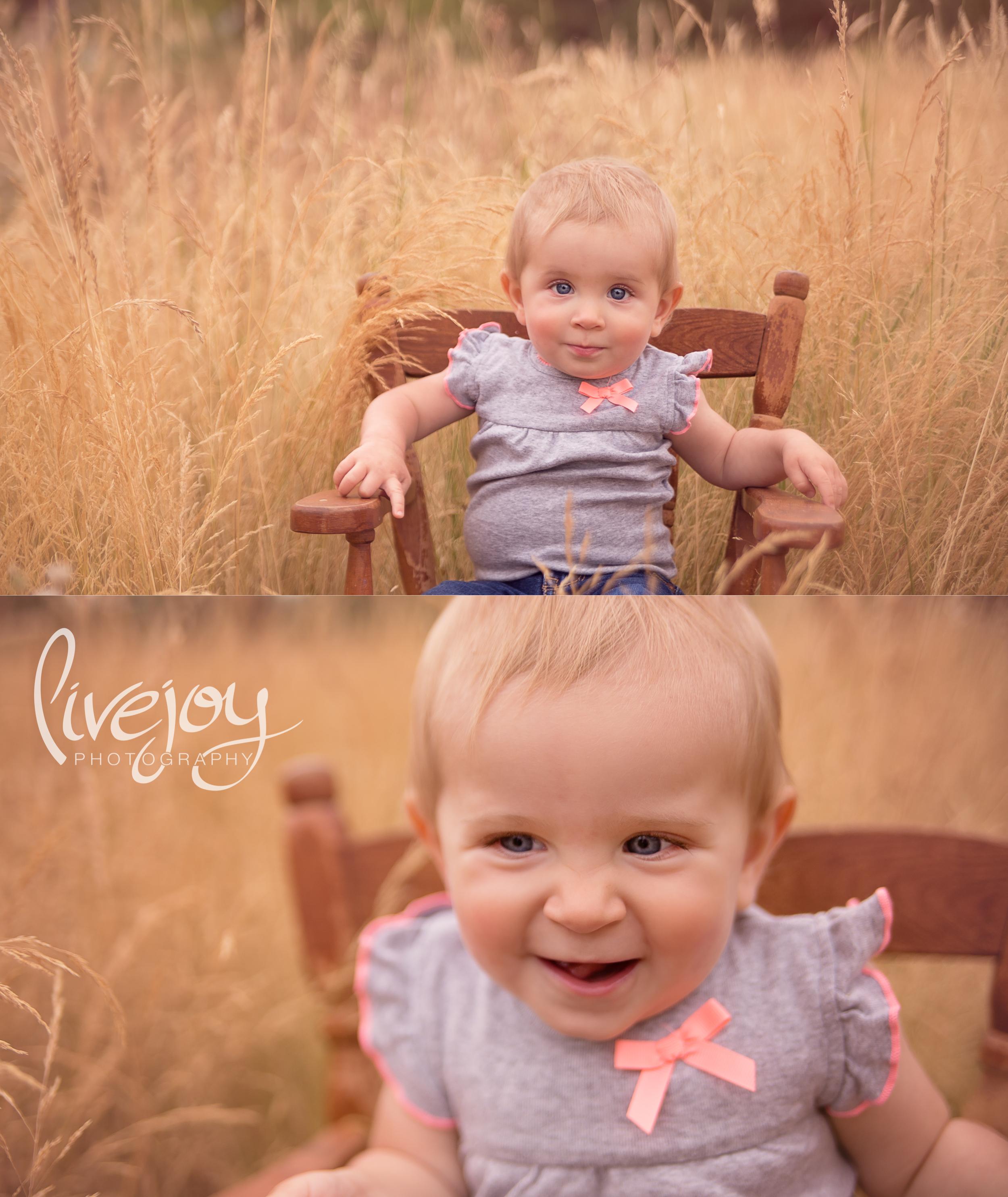 One Year Baby Girl Photos   Oregon   LiveJoy Photography