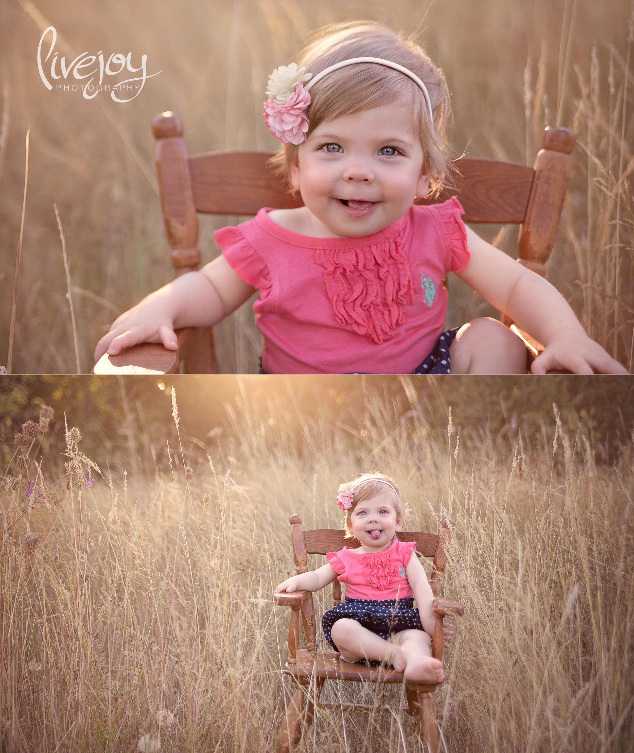 1 Year Baby Milestone Session    LiveJoy Photography   Oregon