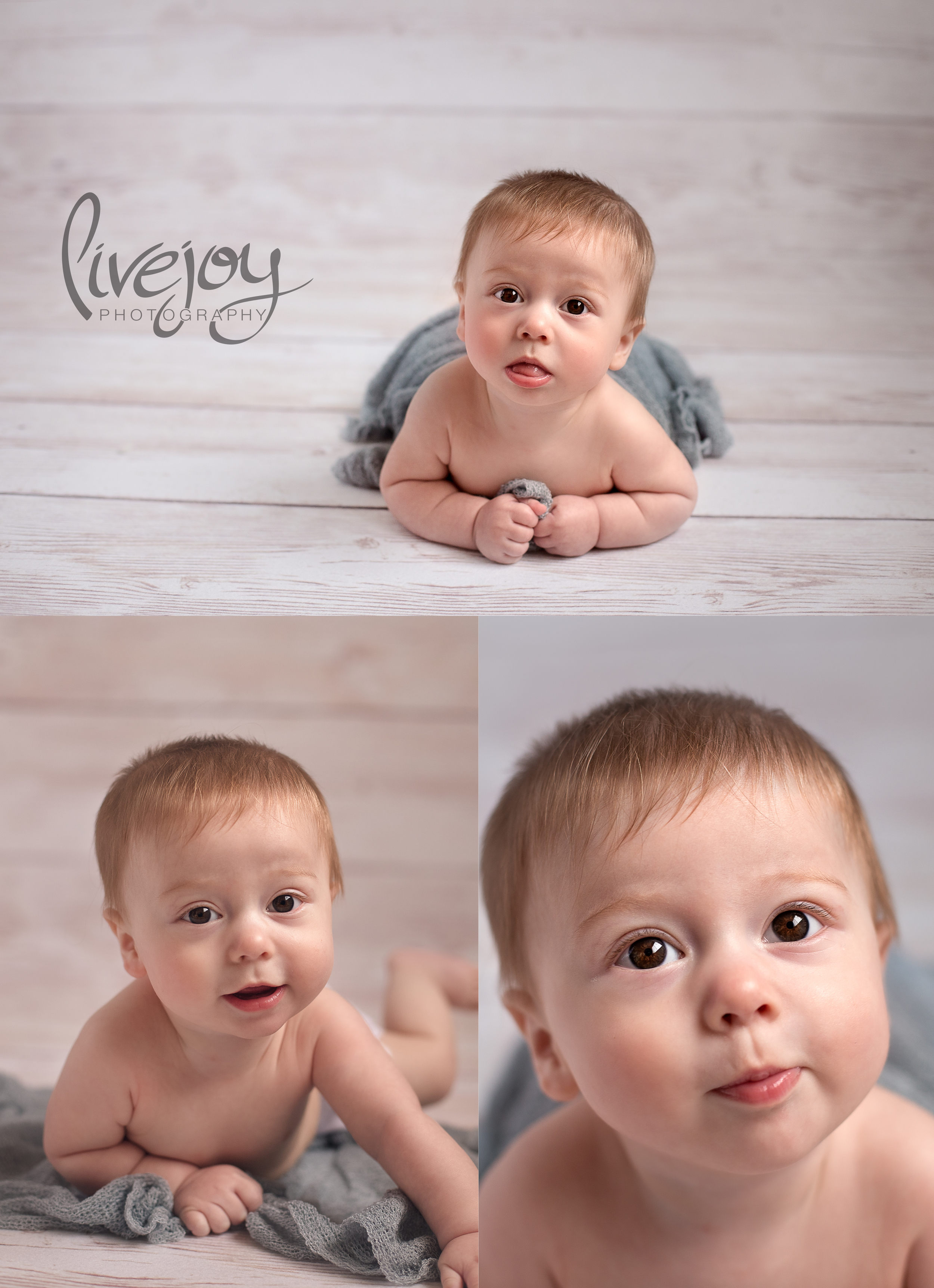 Baby Milestone | 6 Months Studio | LiveJoy Photography | Oregon