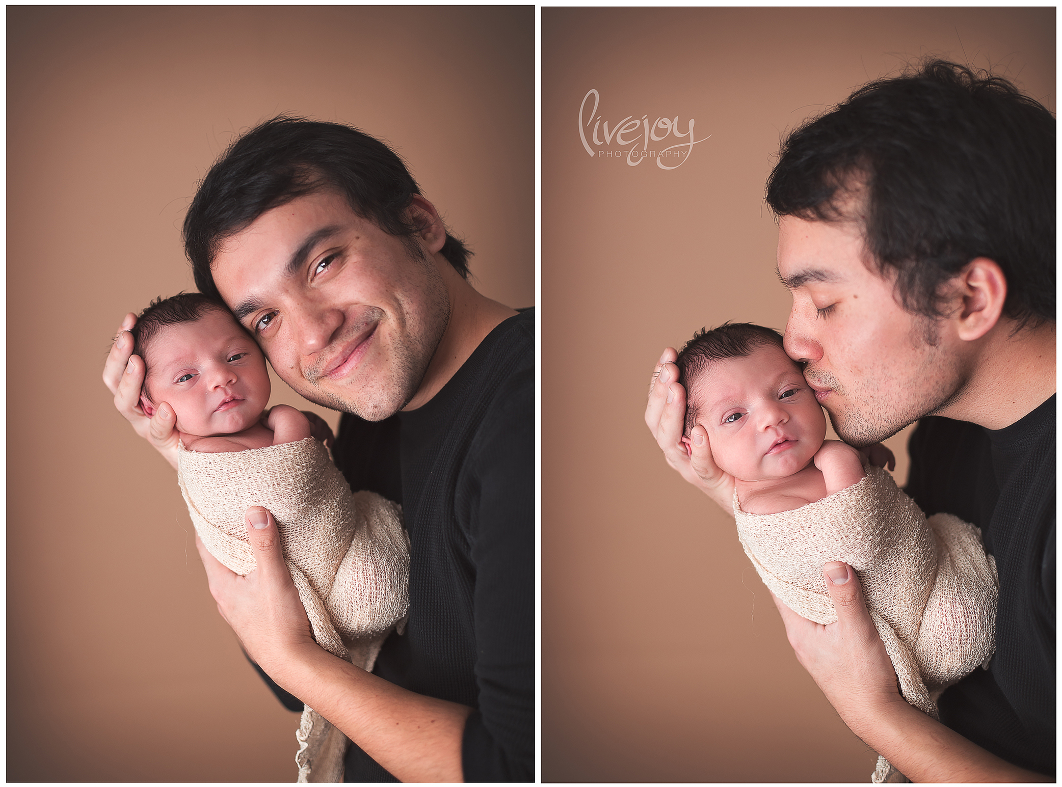 Newborn Photography with Dad | LiveJoy Photography | Oregon