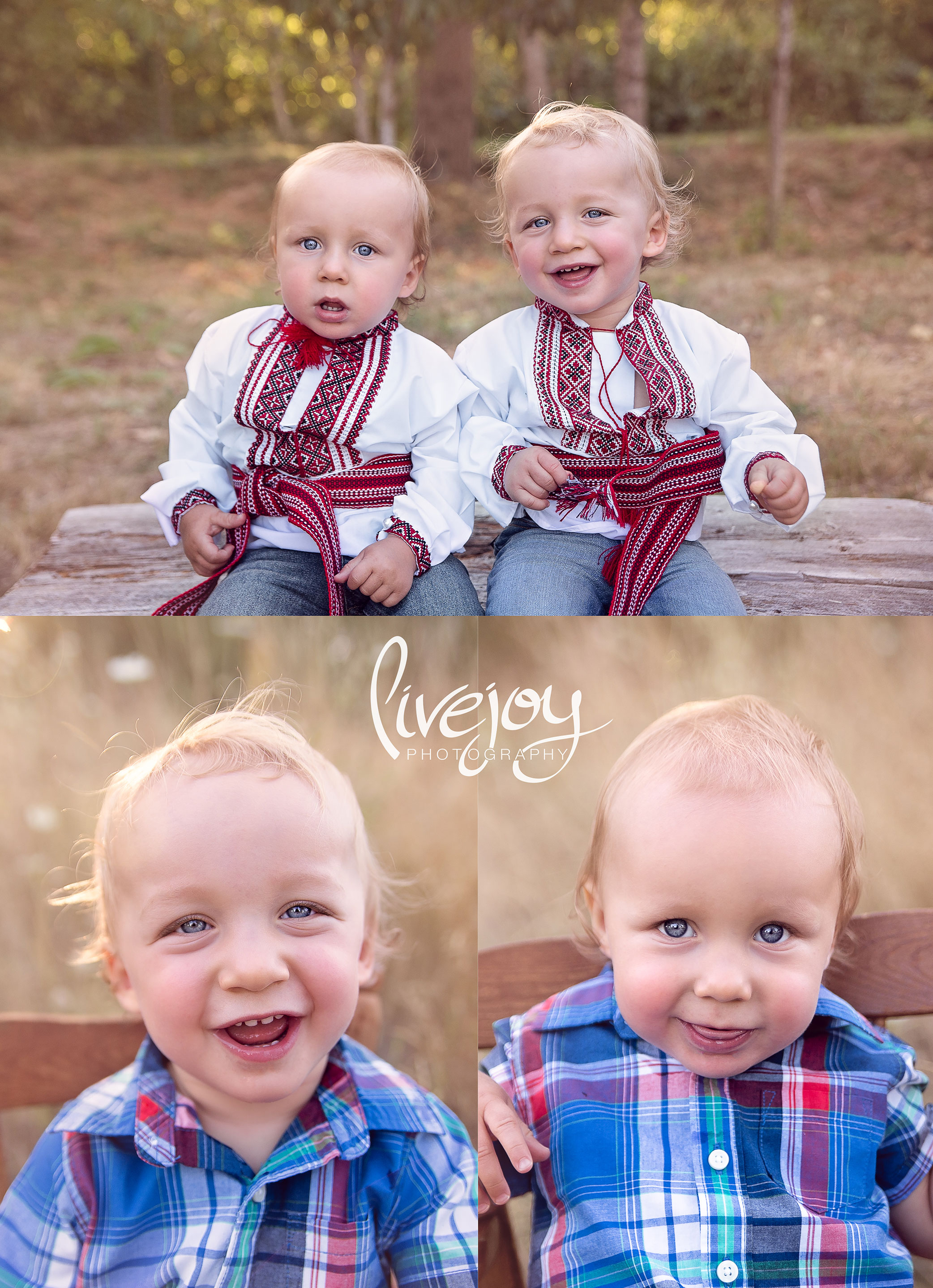 One Year Twin Boys Session | LiveJoy Photography | Oregon