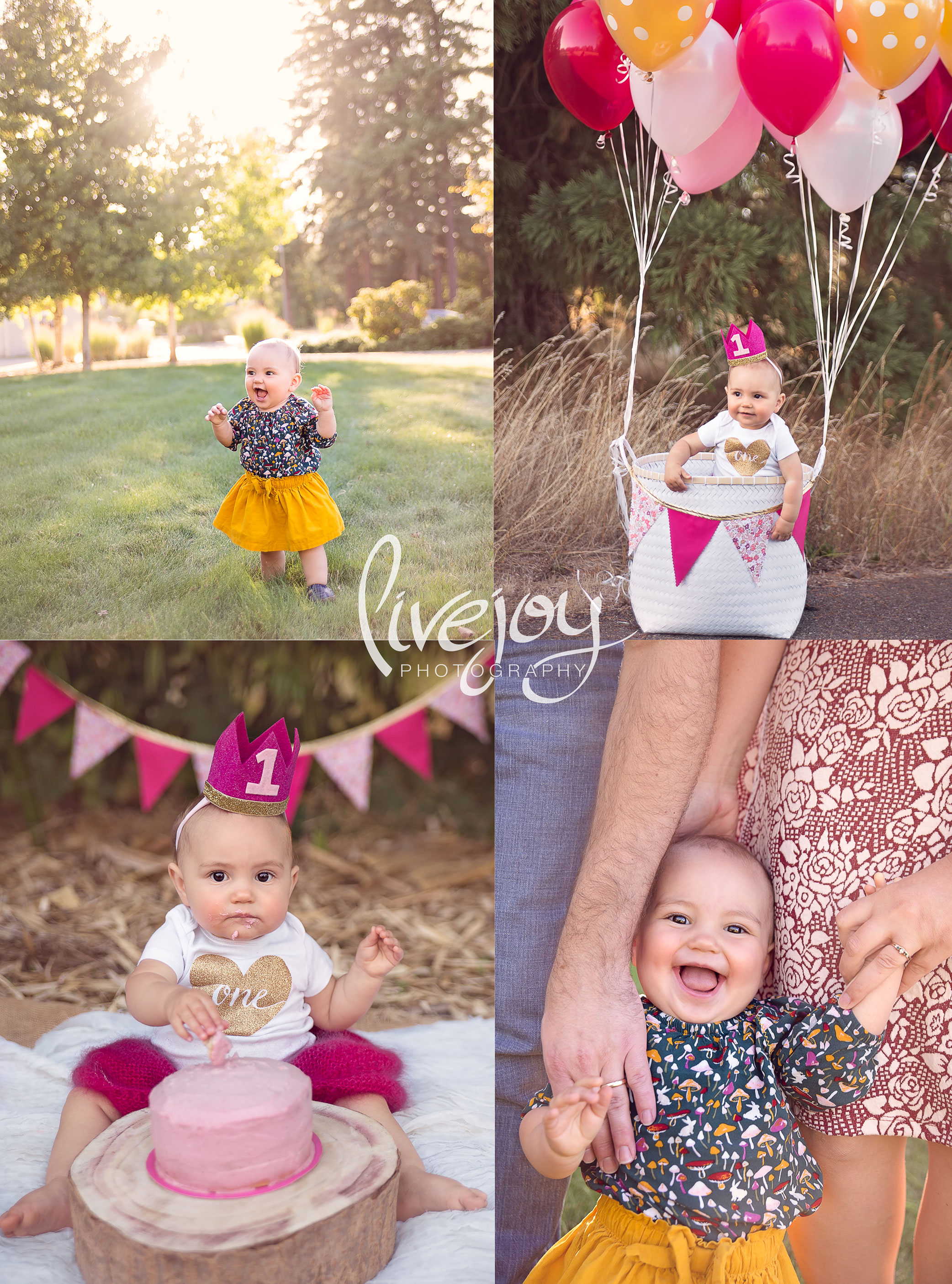 1 Year and Cake Smash Baby Photography | Oregon | Livejoy Photography