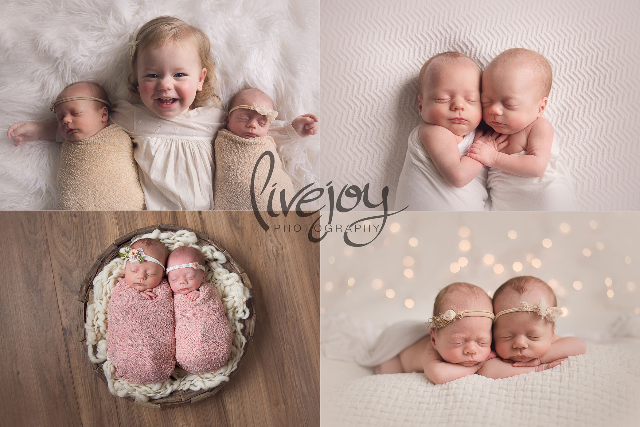 Twin Girls Newborn Photography | Oregon | LiveJoy Photography
