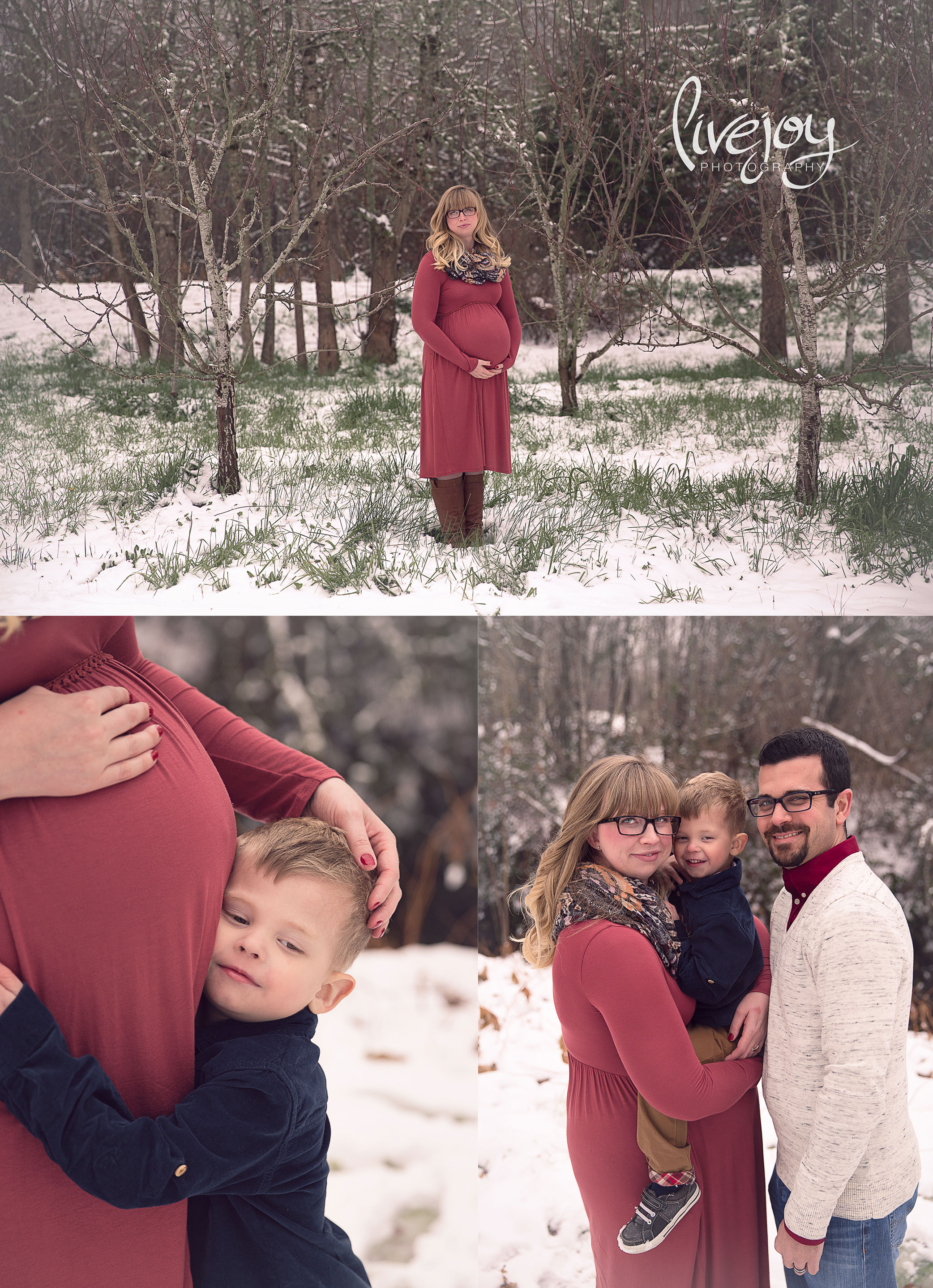Snow Maternity Photography  | Oregon | LiveJoy Photography