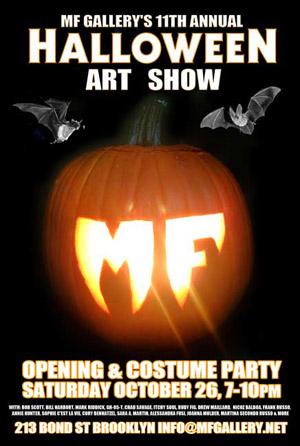 11th Annual Halloween Art Show  MF Gallery,Brooklyn, USA Oct 28 - Nov 24, 2013  ItchySoul piece: 'The Unicorns'