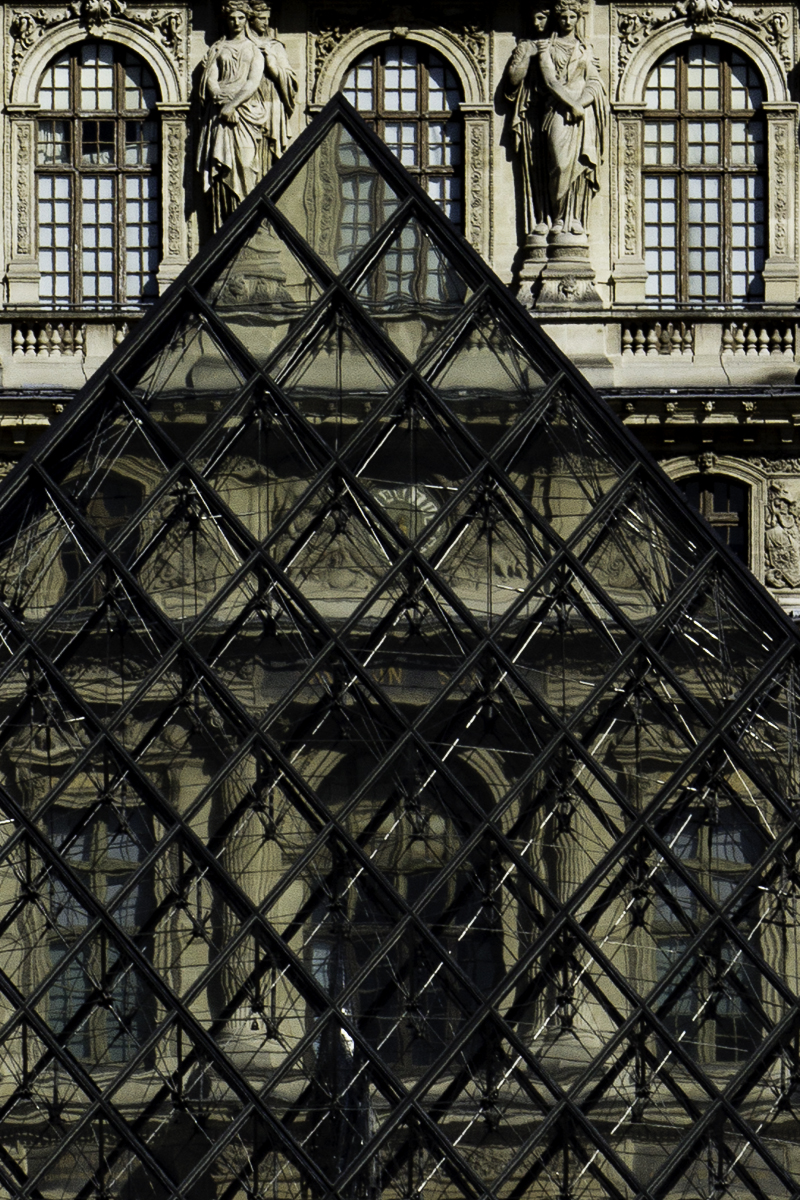 Lines In The Way Series by Liam Philley (liamphilley.com) -- louvre pyramid lines.jpg