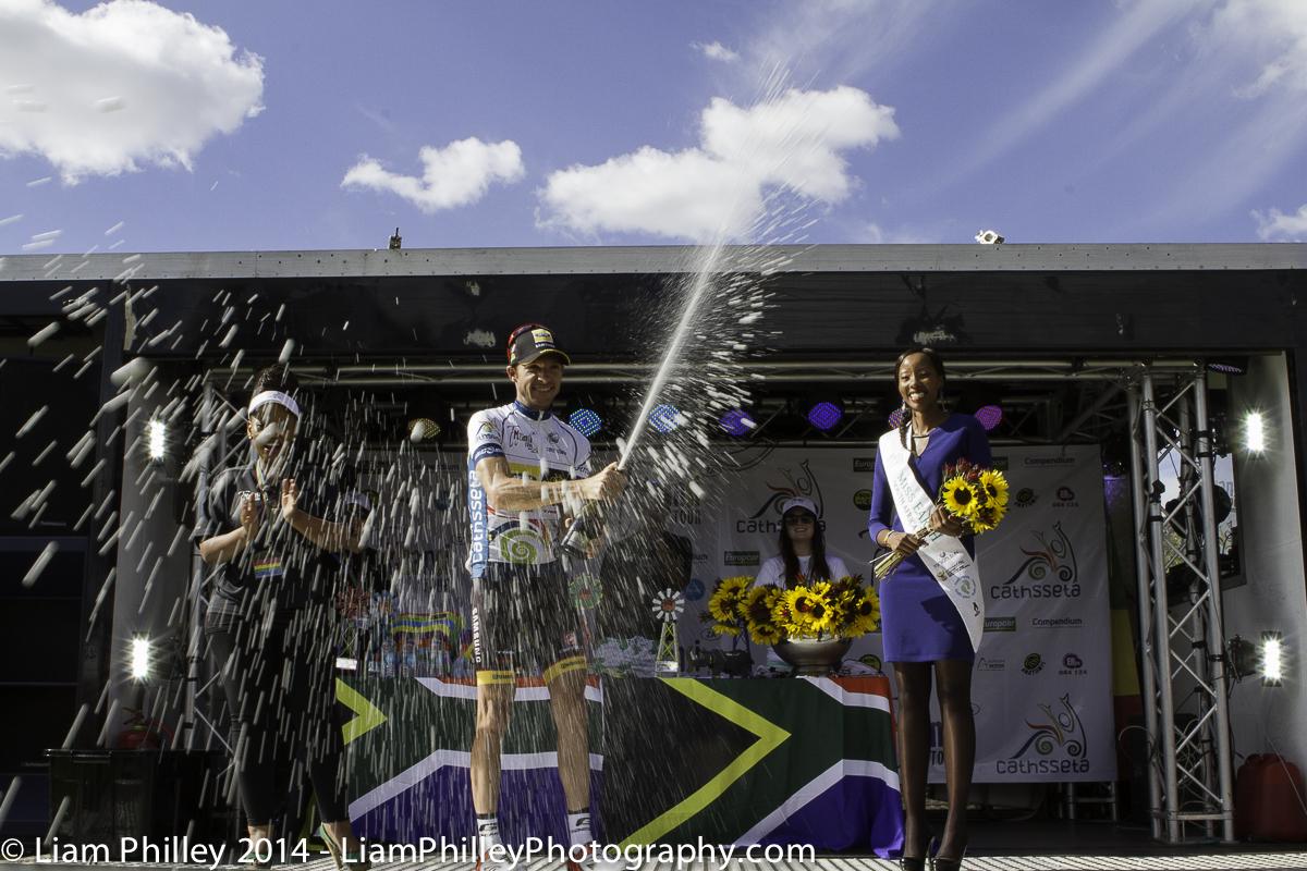 MTN-Qhubeka champagne spray.jpg