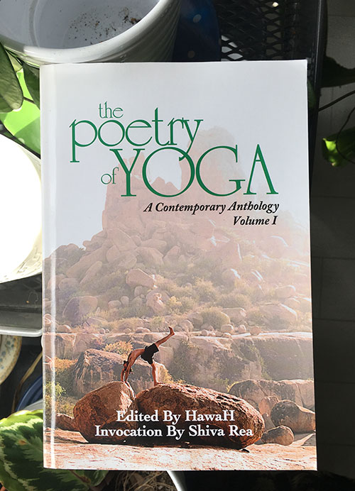 """""""Hafiz, Gibran, Neruda, Rumi . . . their yoga mats were blank pieces of paper; they did asana with pencils between their fingers; their pranayama was inverted metaphor; and their Samadhi was uninhibited, naked poetry. Yoga is a journey, an intricate dance of mind, body, breath, and spirit. It is cultivation of self-awareness through reflection. The Poetry of Yoga is an ecstatic gathering of poetry written by some of the most accomplished and well-known spiritual teachers of our time. Poems are set in the following yogic themes: compassion, desire, freedom, transformation, and service. A book all yoga practitioners cherish and return to over and over for nourishment and inspiration.""""  Published by White Cloud Press."""