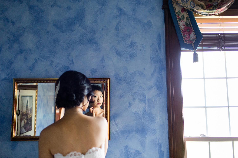 Bride getting ready glace bay wedding