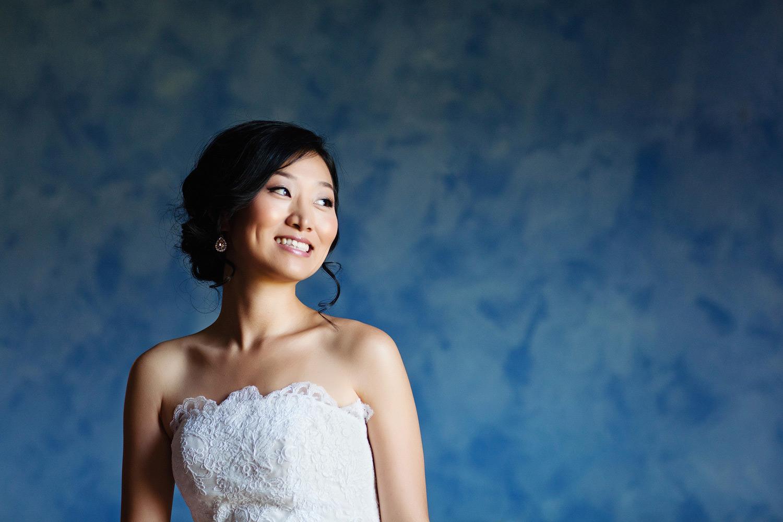 korean bride color portrait