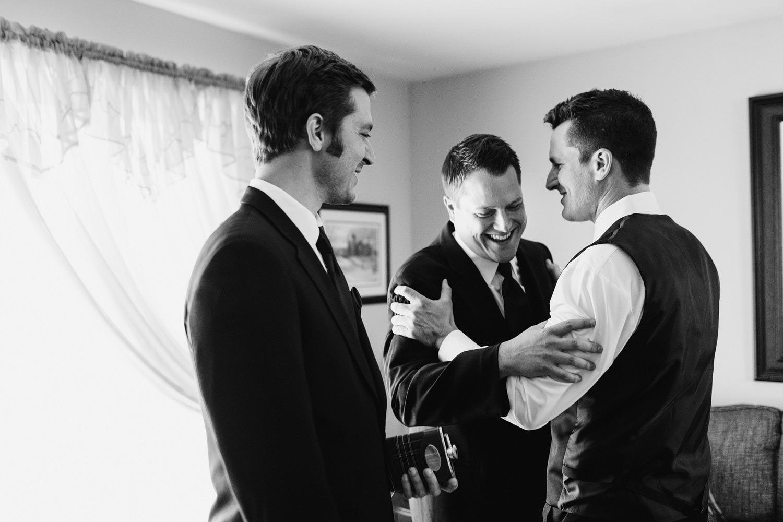 groomsmen getting ready glace bay wedding
