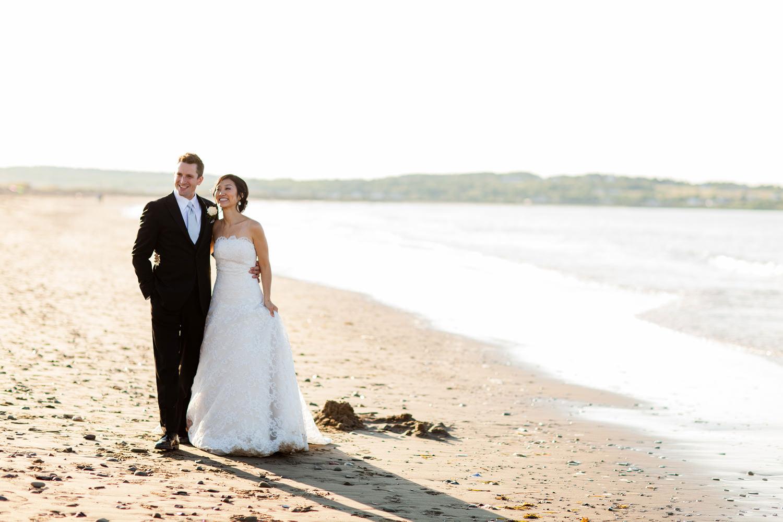 bride and groom nova scotia beach