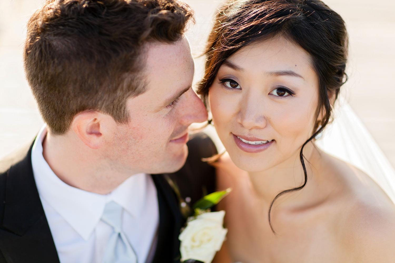 color wedding portrait