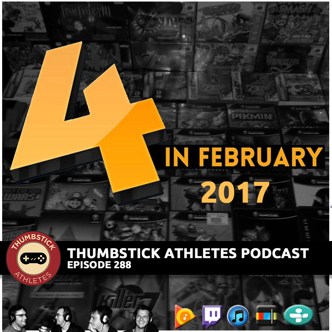 Four in February 2017 podcast cover image.