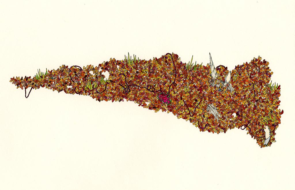 "Autumn Leaf Portal, 9"" x 12"", 2003"
