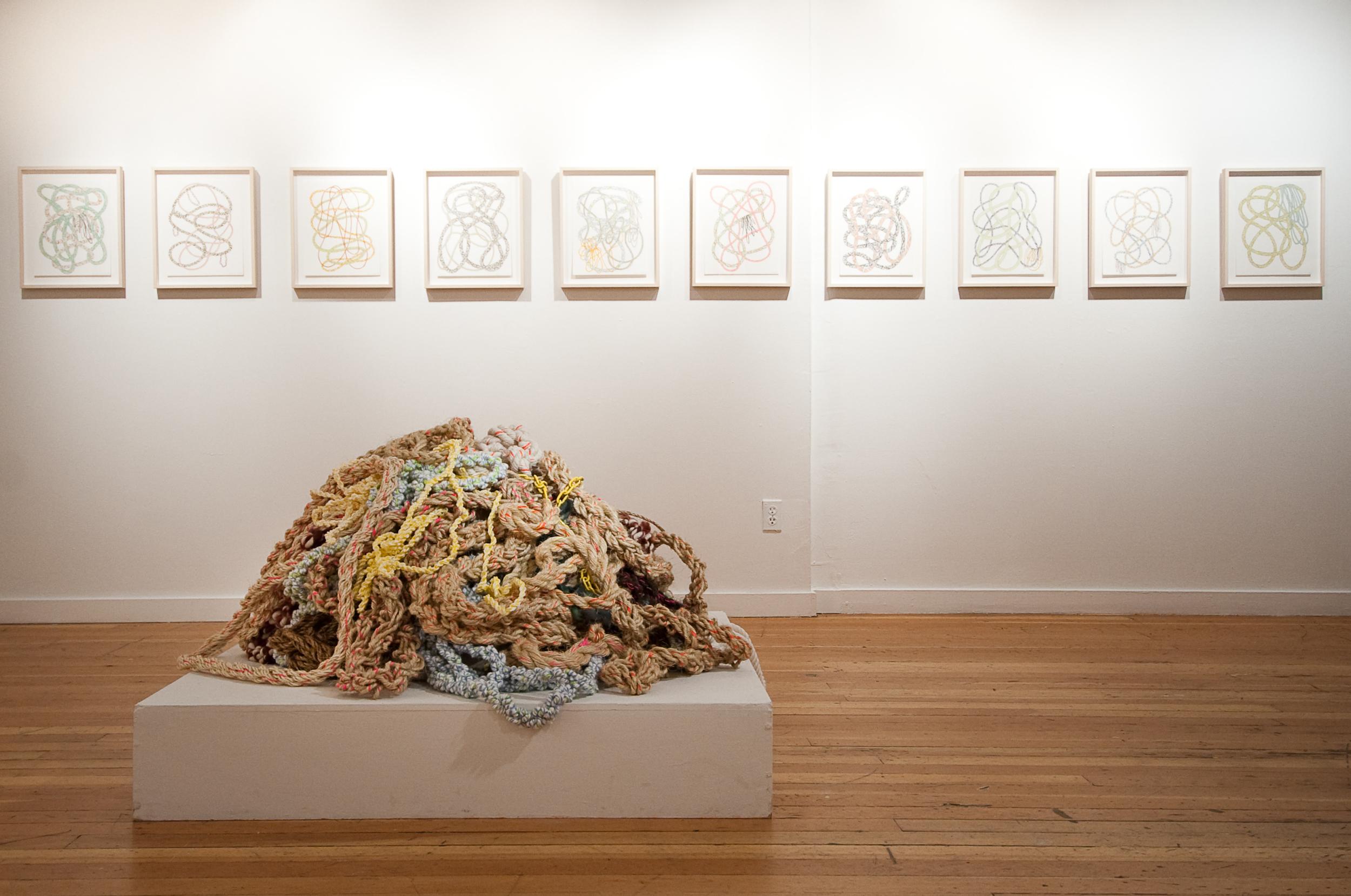 Pattie Lee Becker's Ropes exhibition at BMoCA 2010