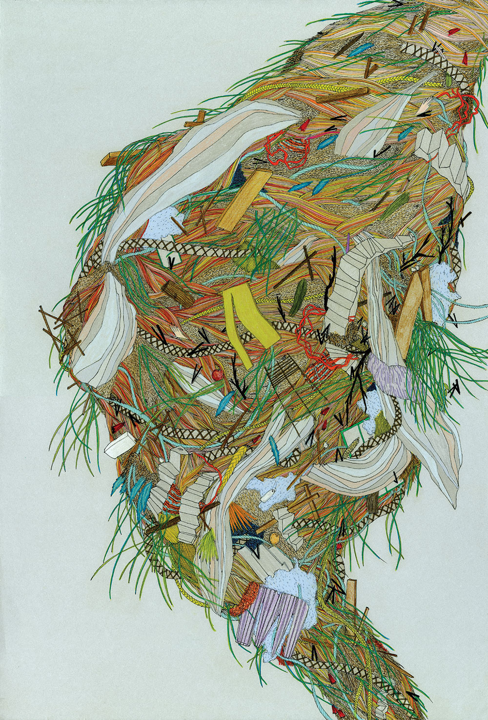 """Pattie Lee Becker, What I Thought Was Once-Mine is Now Ours, 15"""" x 22"""", 2011"""