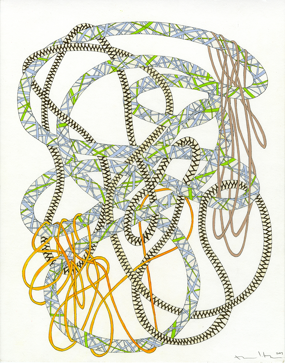Ropes in Blue, Green, Tan, & Orange_11x14_2009_CC.jpg