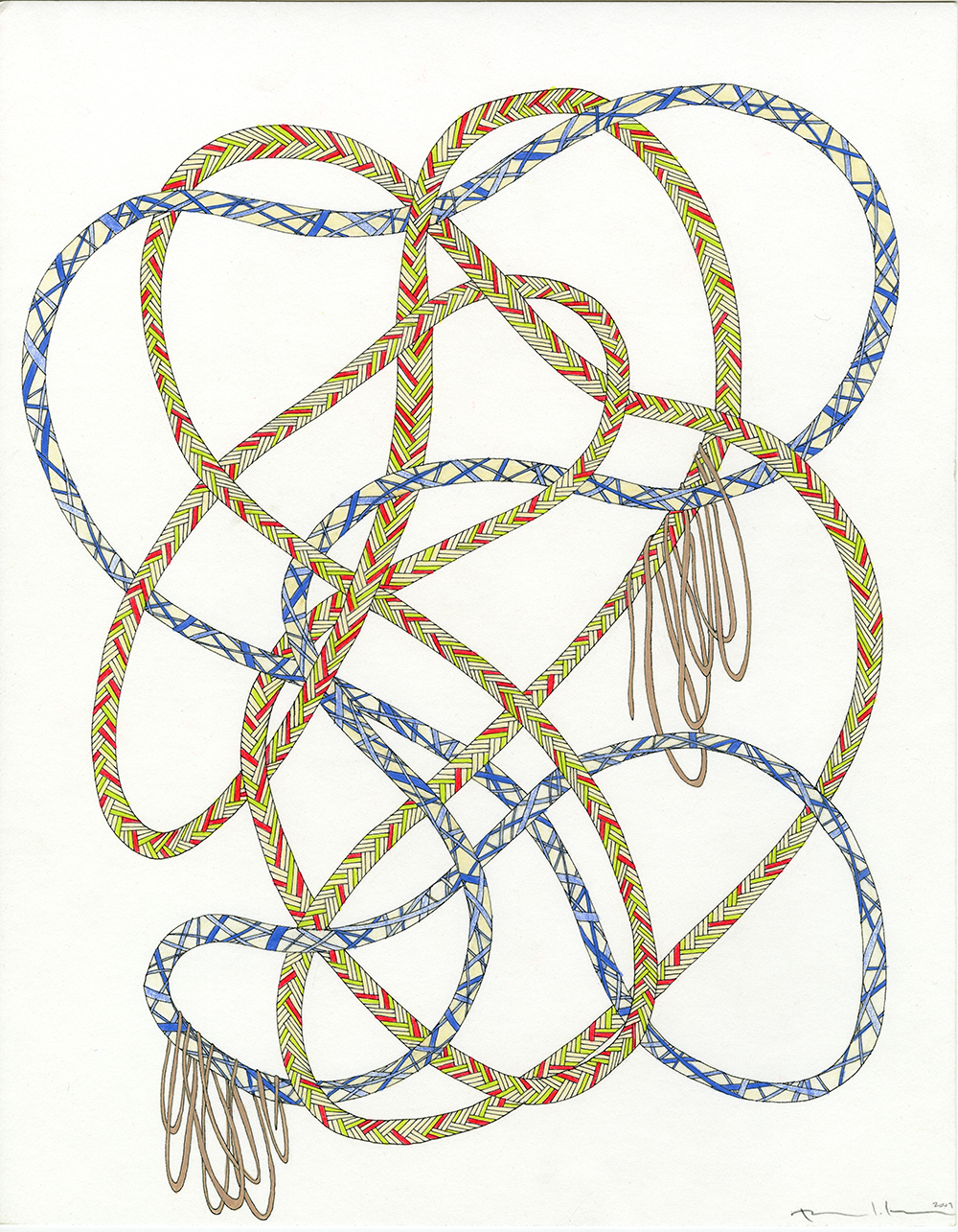 Ropes in Neons, Blue, & Tan_11x14_2009_CC.jpg