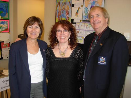Mayor Sandra Bonwick, Lory MacDonald and Deputy Mayor Rick Loydd