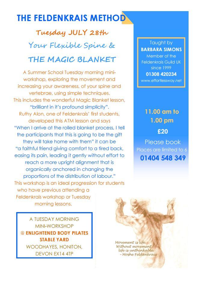 Enlightened Body Pilates Magic Blanket workshop