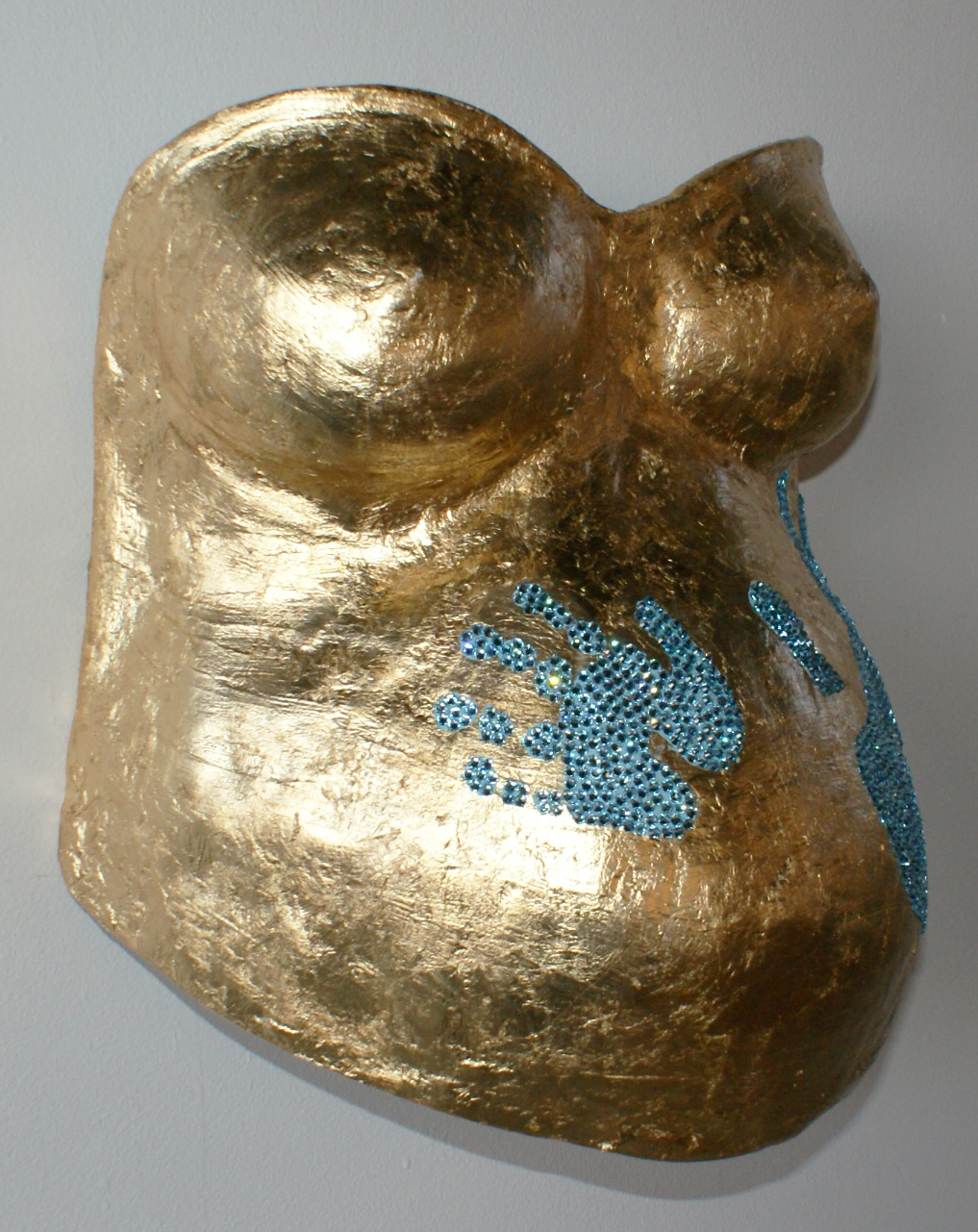 Pregnancy Casting Sculpture by Christina Justiz Roush
