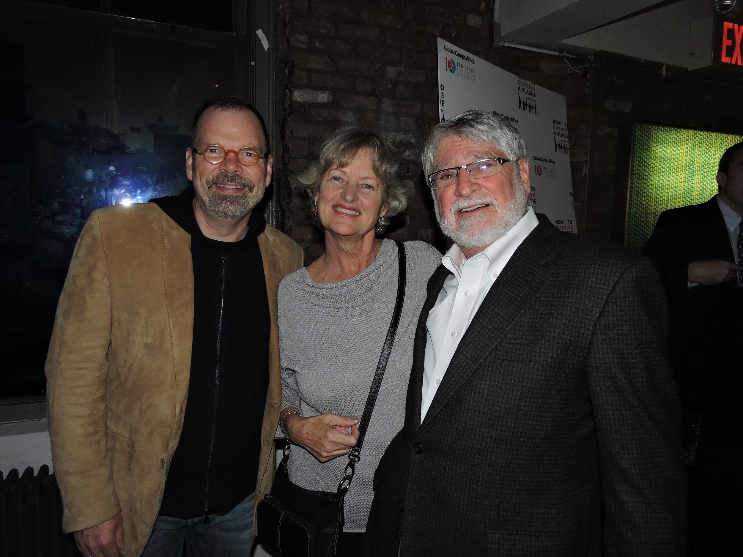 Director David France, Eveleen Sass and Board Chair Eric Sass.JPG