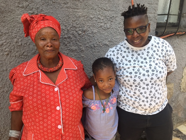 Vochelli Nthabiseng and her family