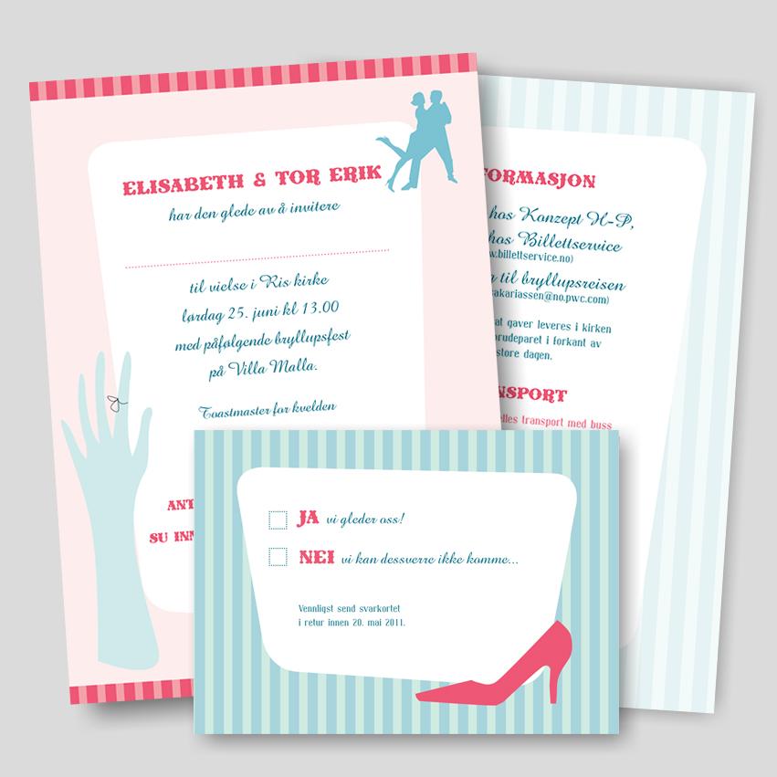 Bryllup – Invitasjons sett
