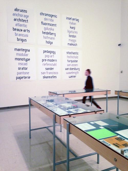 Index  installation, Owens Art Gallery, Mount Allison University, Sackville, NB, 2015