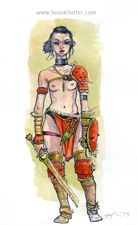 Barbarian Girl. Savage and Dangerous.