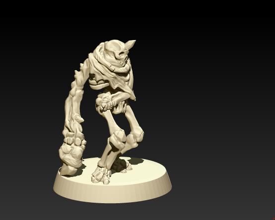 Work In Progress shot of a Bone Stalker: mutated skeletal horror! ;)