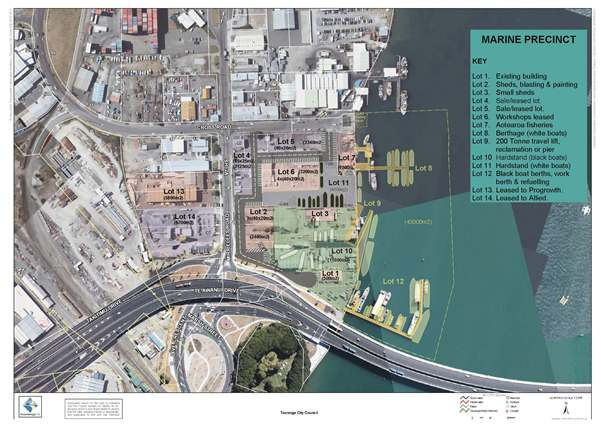 Sulphur Point Marine Precinct concept plan - Supplied