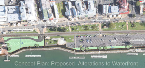 The plan for Tauranga's waterfront.