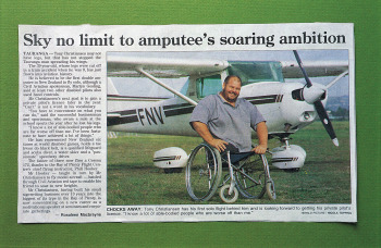 Mr Christiansen's next goal is to gain a private pilot's licence later in the year.