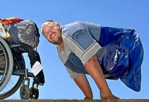 Inspirational speaker and double amputee Tony Christiansen is packed and ready to take on Mount Kilimanjaro - Picture: John Borren