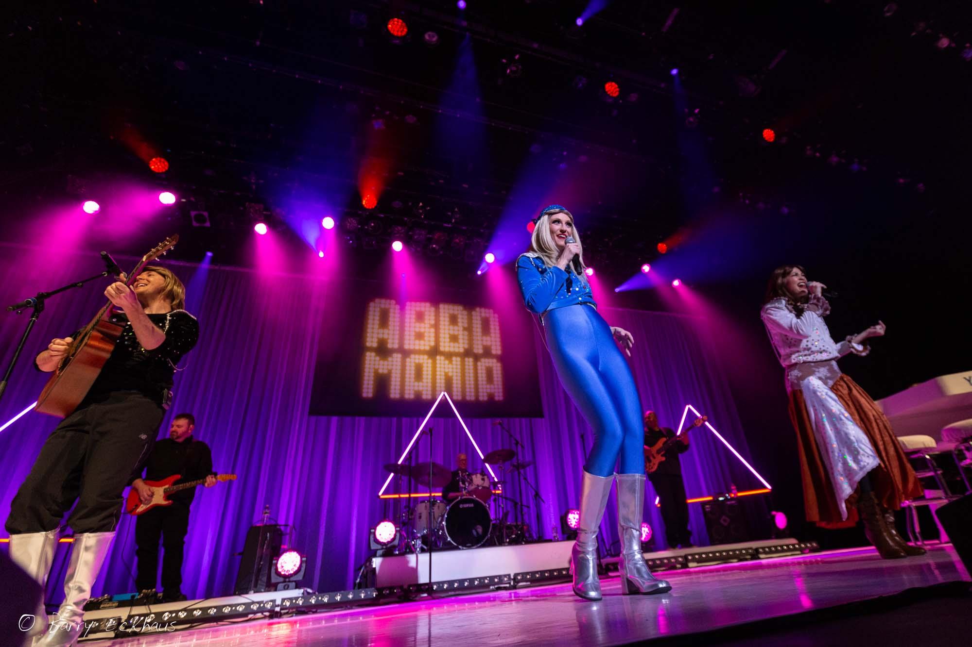 Concert photography of the band Abba Mania, Beaver Creek, Colorado.