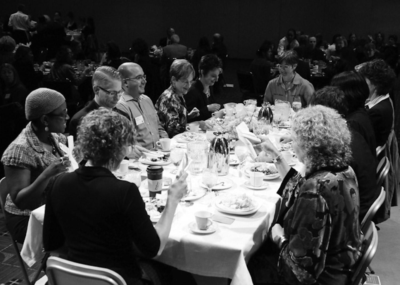 Guests at the original experiment.  photo credit:Andie Petku