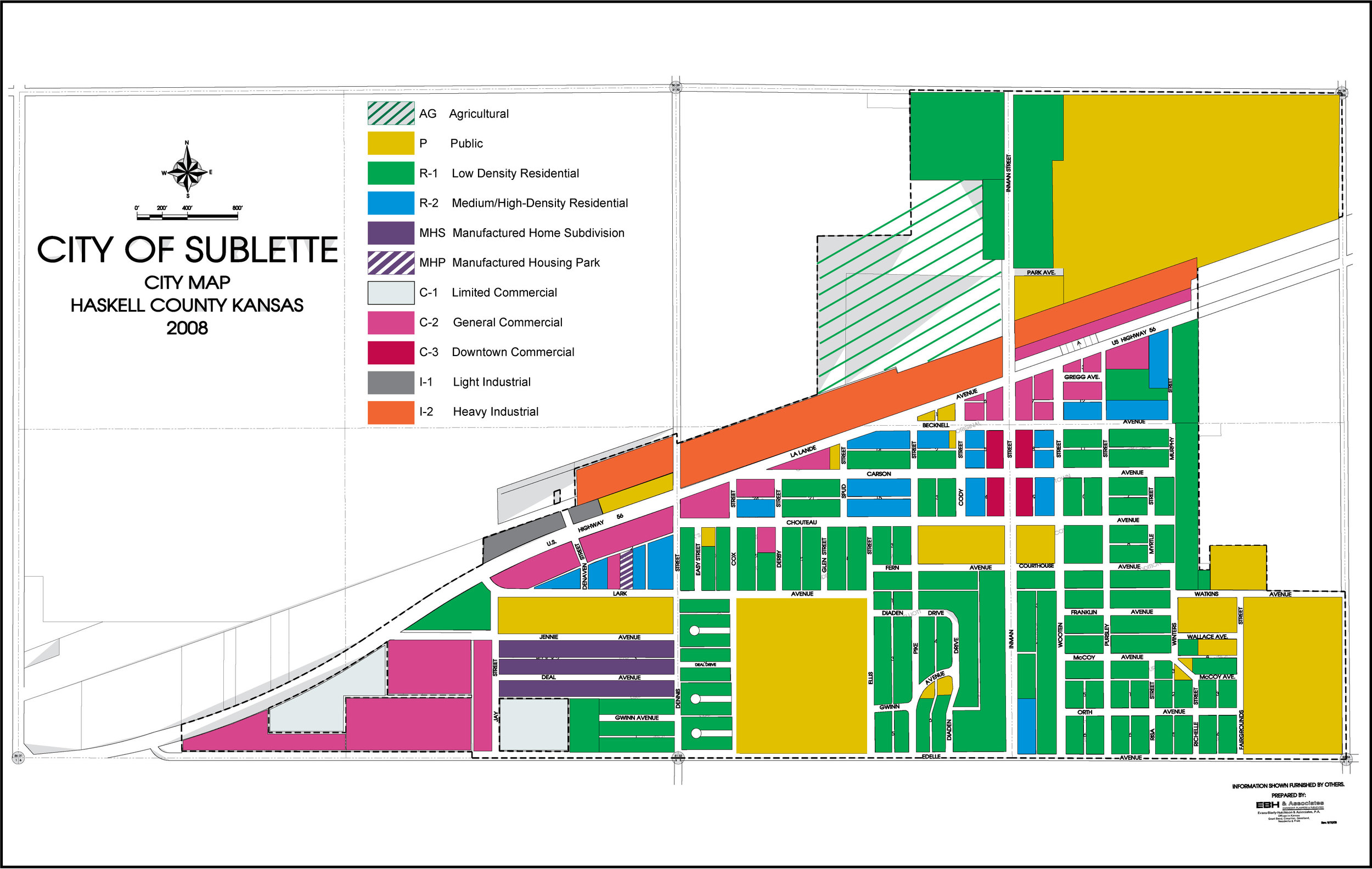 Sublette Zoning Map 2013