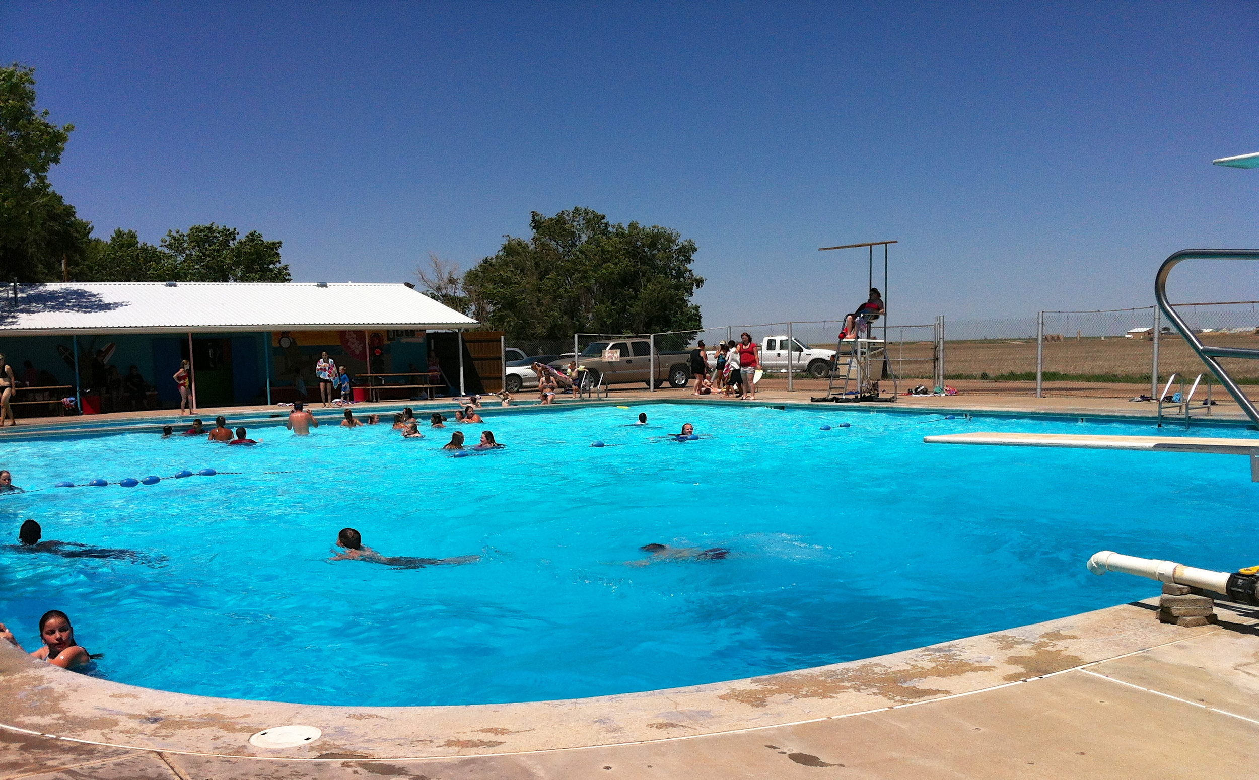 Sublette City Pool On a Hot Summer Day!