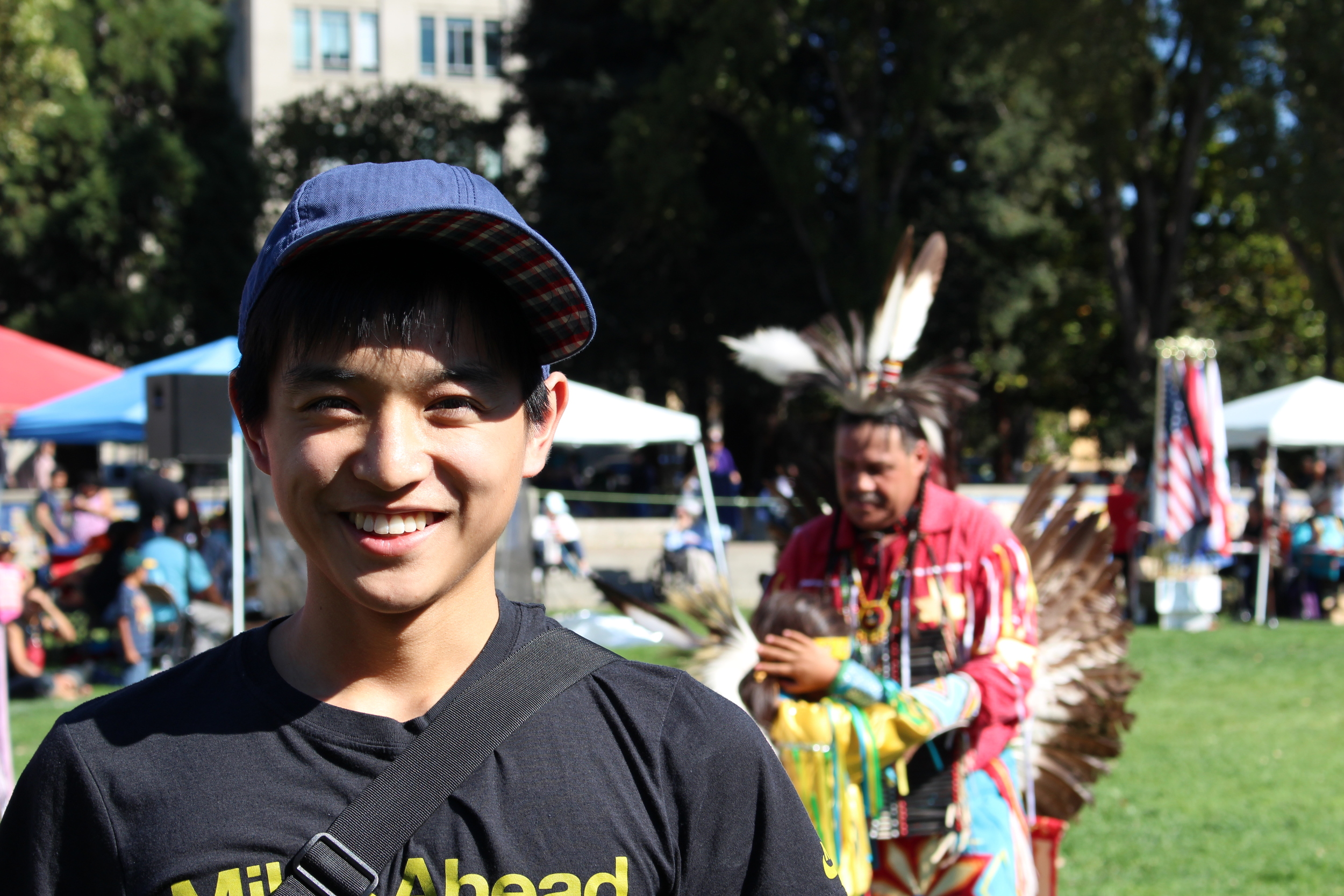 Me attending at the Indigenous Peoples Day event in Berkeley, CA