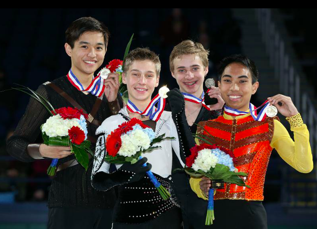 Junior Men's podium at the 2015 US Championships