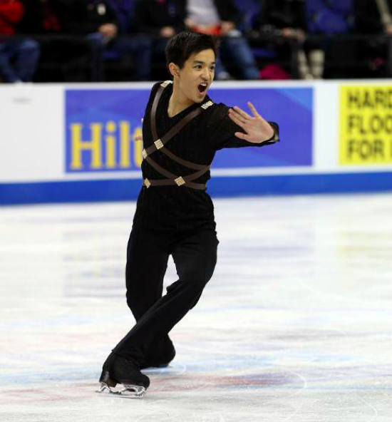 "Kevin skating to music from ""Thor: The Dark World"" at the 2015 US Championships"