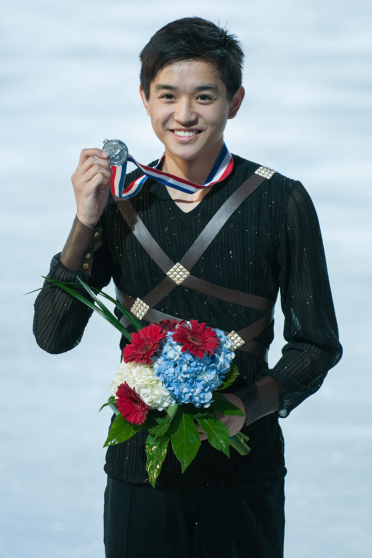 Kevin with his silver medal at the 2015 US Championships