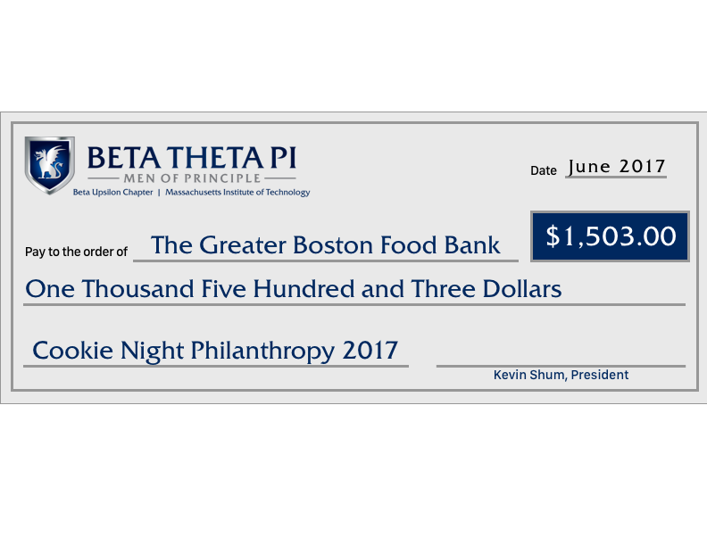 Spearheaded a new philanthropy and raised a record-breaking $1,503.00 for the Greater Boston Food Bank.
