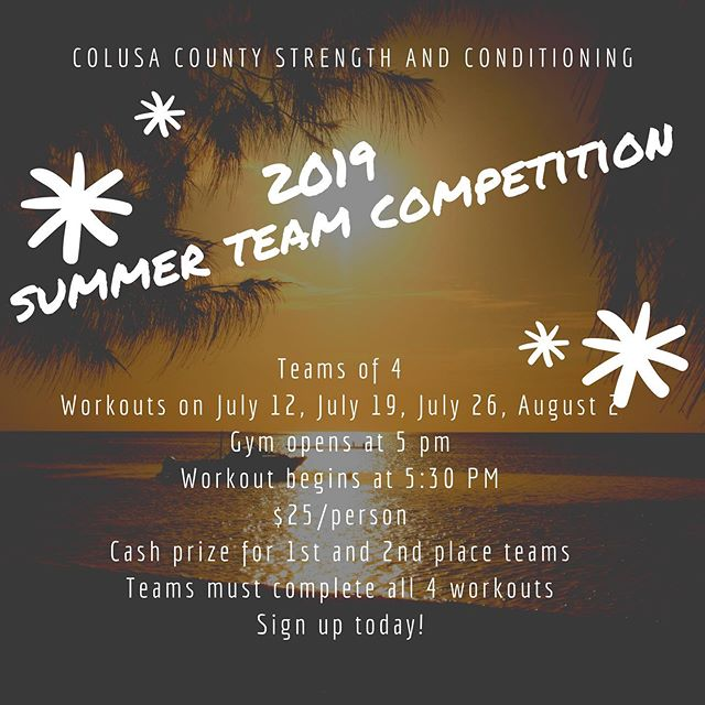 Who's in?? #colusacountystrengthandconditioning #summerfun #getsome