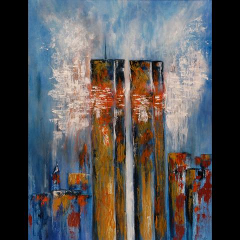 Painting by  Larry Ney II  via    911memorial.org